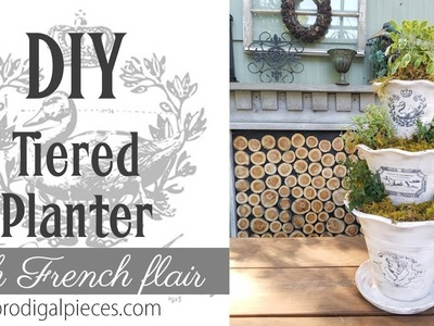 DIY Tiered Planter for Herbs and More