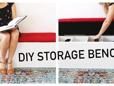 Easy DIY Storage Bench