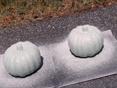 Fall Dollar Tree DIY ~Faux Stone~ Pumpkin Arrangement