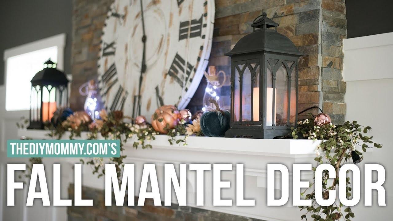 Fall Mantel Decor Idea | Fall DIY & Decor Challenge | The DIY Mommy