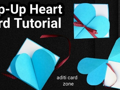 Pop up heart card tutorial | Best card to fill in your scrapbook |