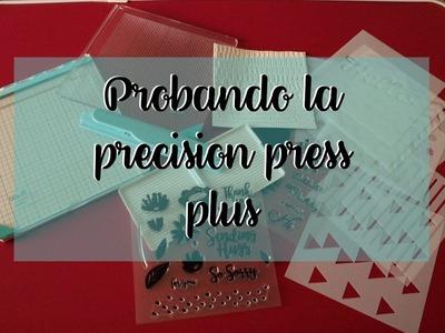 Probando la nueva Precision Press Plus de WeRMemoryKeepers  | Tutorial Scrapbooking en Español.