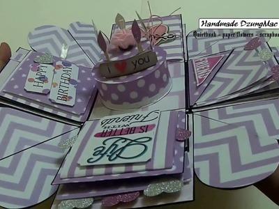 Scrapbook ideas #1 - Exploding Box Card