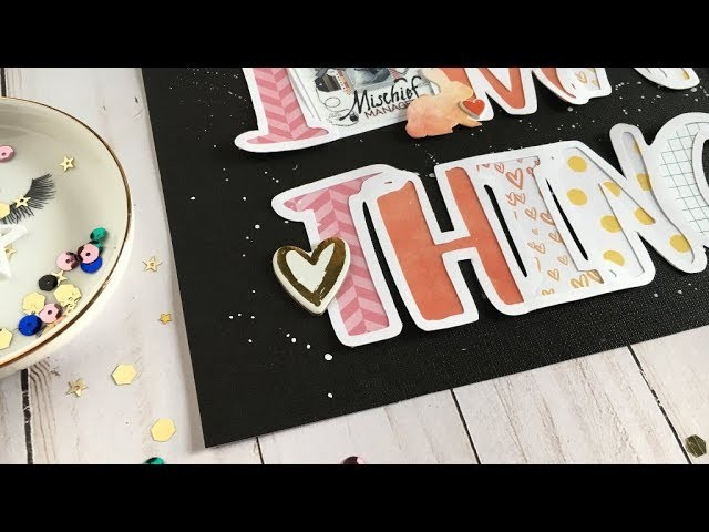 Scrapbook Layout Process with Kira:  Weekly Facebook Challenge