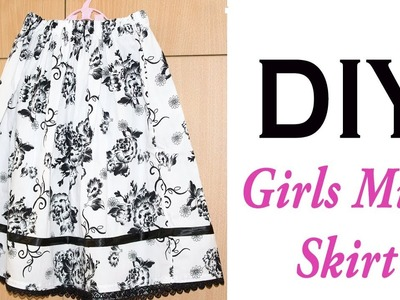 Skirt for Girls- Easy DIY -cutting and stitching for beginners