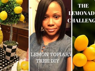 The LEMONADE CHALLENGE-LEMON TOPIARY TREE DIY & KITCHEN ISLAND SETUP