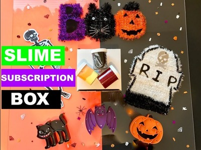 The Slime Tribe, Slime Restock, Slime Subscription Box, Slime DIY, Unbboxing, Halloween