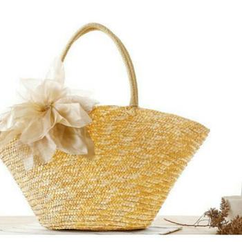 Woven handmade tote beach bag