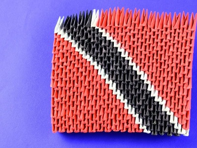3D origami The flag of Trinidad and Tobago (Trinidadian flag) Tutorial for begginers