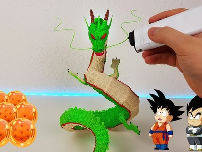 3D Pen Making Shenron. Shenlong Figure with 3Dsimo mini
