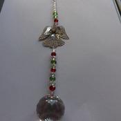 Angel crystal suncatcher or Christmas decoration