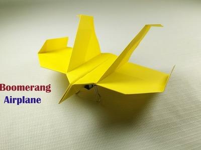 Boomerang Airplane  How to Made, Paper Boomerang Airplane How to fold, Easy To make Easy to fold