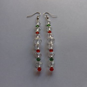 Crystal Dangle Earrings for pierced ears