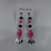 Crystal Dangle Westie / Scottie Earrings for pierced ears