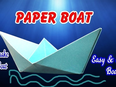 Easy and Simple Paper Boat | How To Make Paper Boat Easy | DIY Crafts