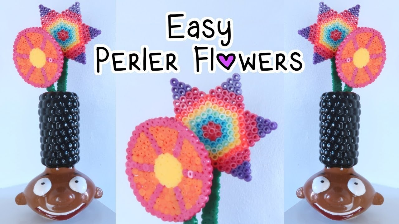 Easy Perler Bead Flowers Pattern