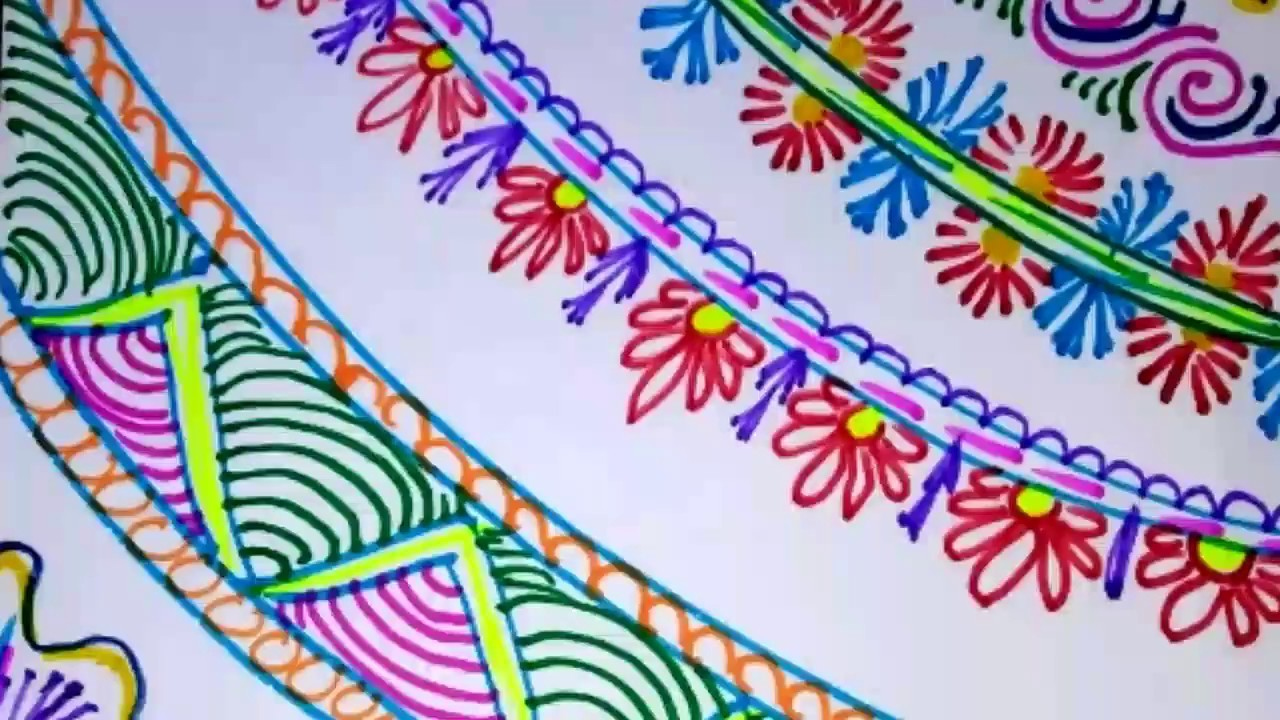 Easy Simple And Attractive Border Designs Project File Chart Paper