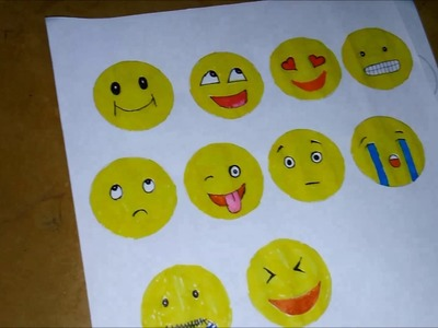 Easy Smiley Bookmarks for kids
