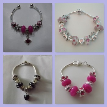 European style bracelets in various styles