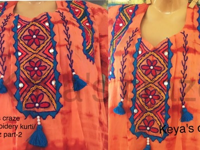 Hand embroidery design on kameez.kurti part-2   Hand embroidery   Keya's craze  132