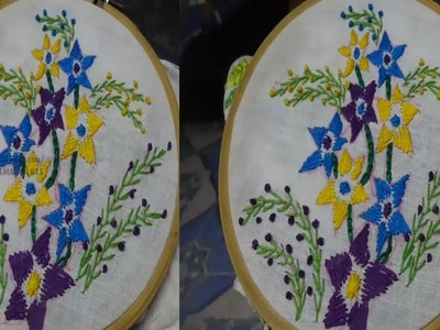 Hand Embroidery  Flower Designs Rumanian Stitch by Amma Arts