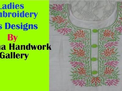 Hand Embroidery Ladies Suit Neck Design.Disha Handwork Gallery#10
