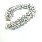 Handwoven chainmaille/chainmail bracelet.