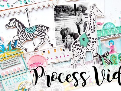 Happy-Go-Lucky | Scrapbook Process Video | Hip Kit Club