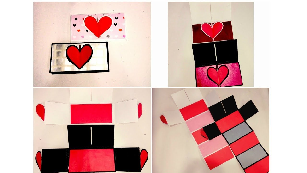 Heart lock accordion card tutorial for scrapbook