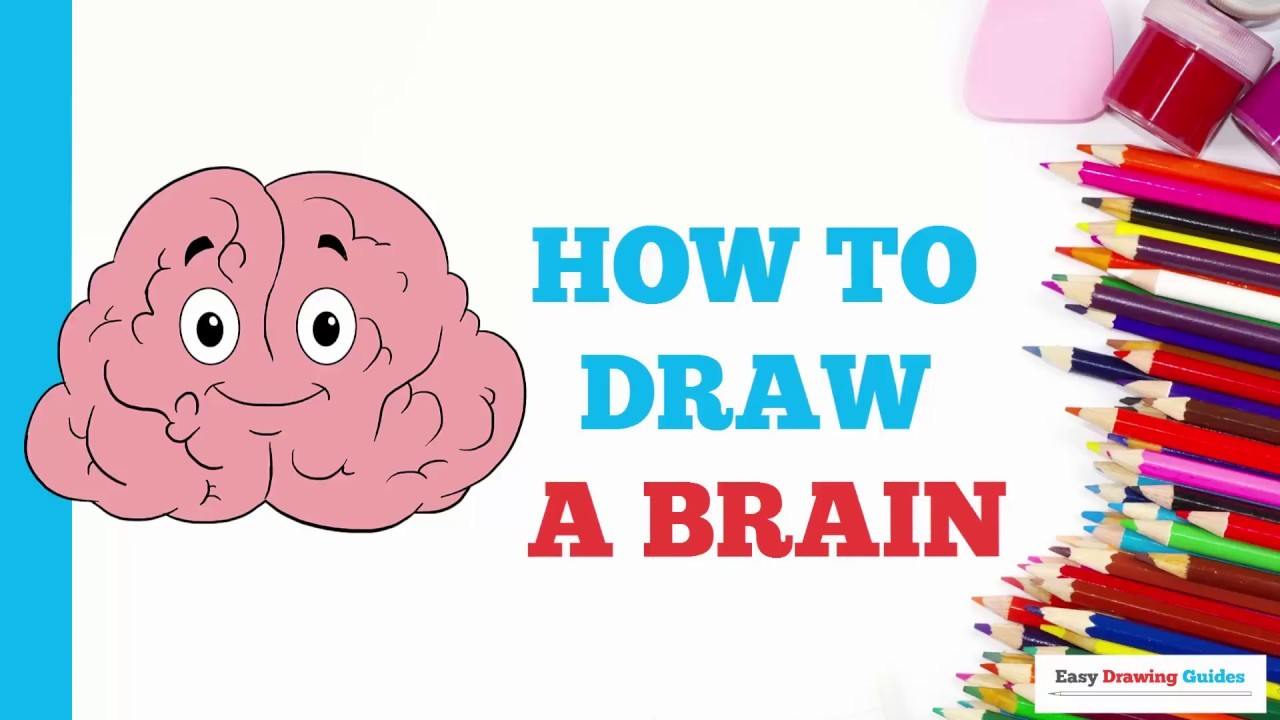 How To Draw A Brain In A Few Easy Steps Drawing Tutorial For Kids