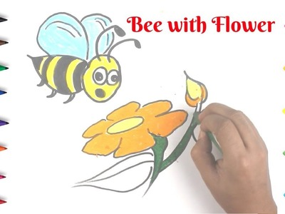How To Draw A Realistic Bee | Easy Things to Draw |  Children Drawing & Coloring