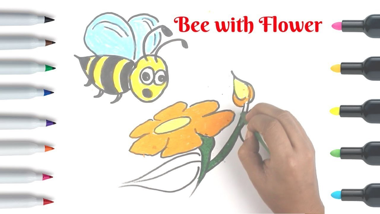 How To Draw A Realistic Bee Easy Things To Draw Children Drawing
