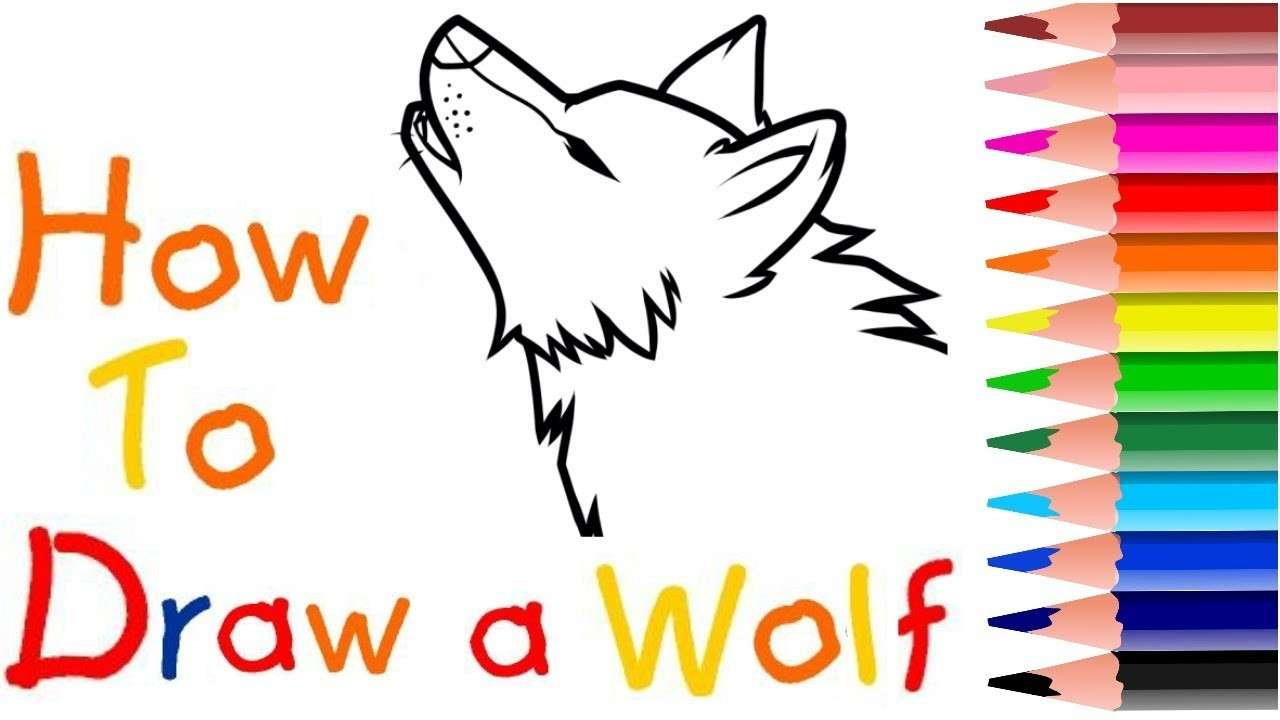 How To Draw Wolf Howling Fast Easy Quick 2017