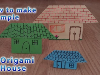 How to make a simple Origami House - STEM activity for Kids