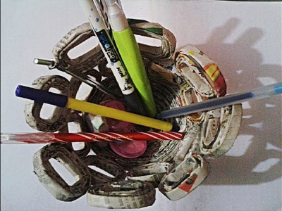 How To Make Basket From News Paper | न्यूज़ पेपर  से  टोकरी बनाना | Use of newspaper