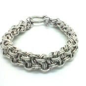 Ladies handwoven in  stainless steel chainmaille/chainmail  bracelet