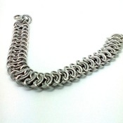 Ladies stainless steel chainmaille/chainmail bracelet