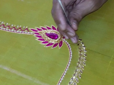 Making of Beautiful maggam work blouse - hand embroidery making