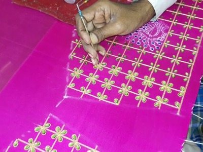 Making of Kundans work with Jari - Hand embroidery making video - Part 3