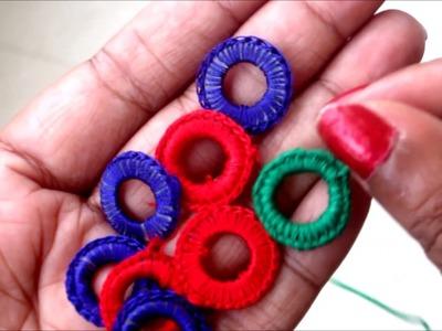 Mirror Frames. Mirror Rings Hand made for Necklines, Blouses, Sari Laces, Lehenga Borders, Dupatta