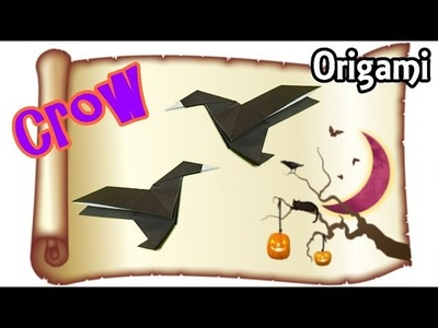 Origami Easy Crow for Halloween  | Cool Origami Bird for Beginners with One Piece of Paper