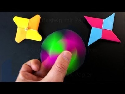 Origami Fidget Spinner -  How to make a Fidget Spinner without a bearing DIY Spinner with paper