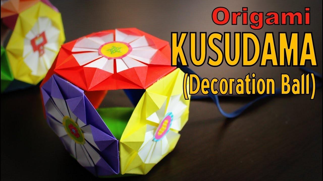 origami how to make a kusudama decoration ball