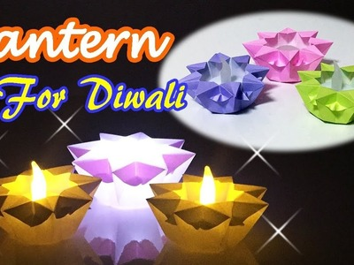 Origami Star Candle Holder | Ideas for Diwali Decoration at Home | Origami Only 1 Piece of Paper