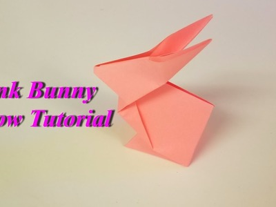Pink Bunny Origami - How to make an origami Pink Bunny, Slow Tutorial