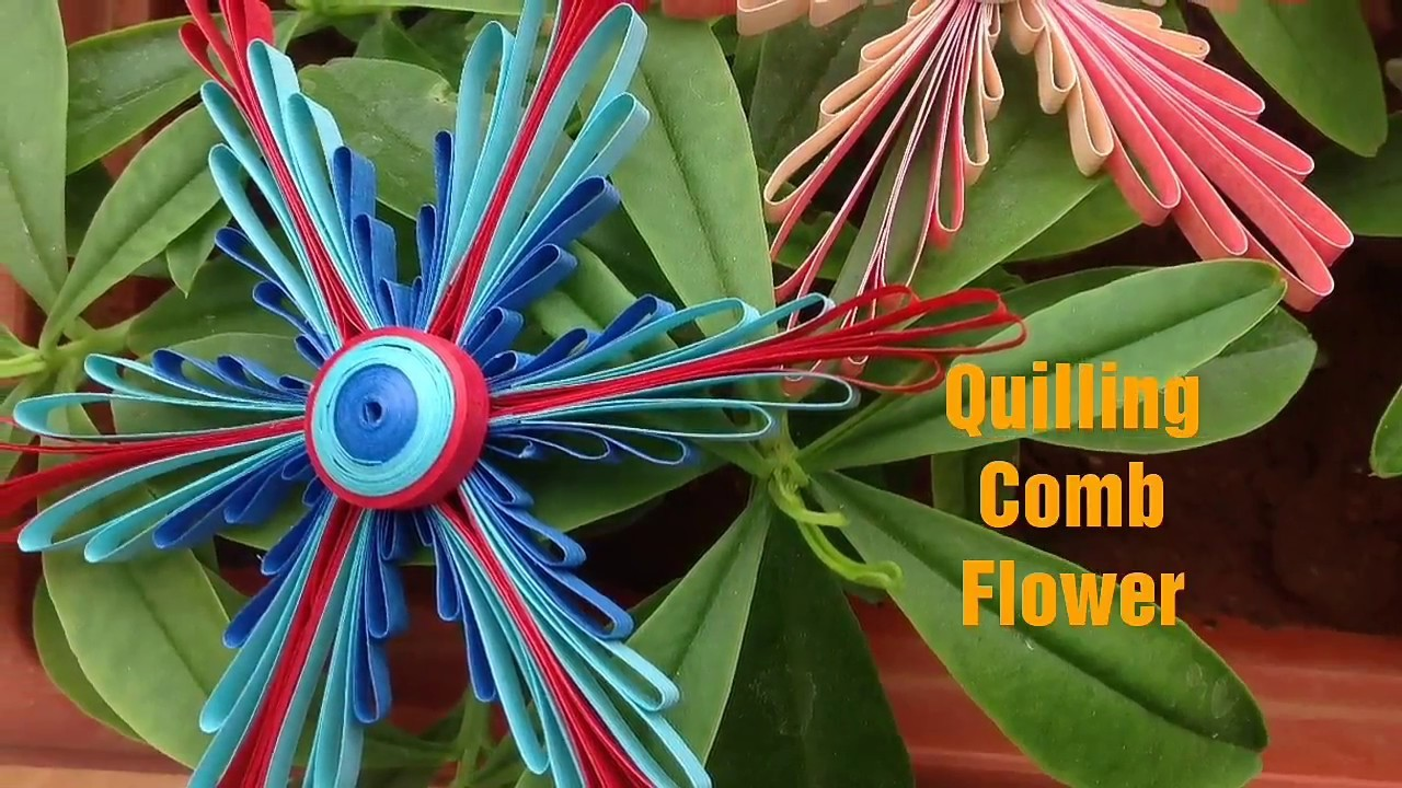 Quilling Comb Flower || How to use Quilling Comb ||
