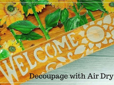 Studio Decoupage Tutorial with 3D Air Dry Clay and Americana Gel Stain