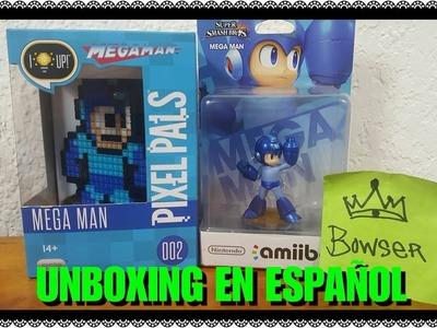 """Unboxing """"8Bit MEGAMAN de Pixel Pals"""" 002 figura de lampara"""