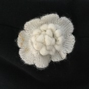 White Flower brooch