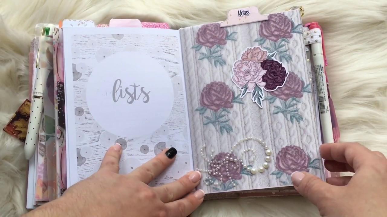 B6 Fall October Traveler's Notebook - TN - Planner Setup - Foxy Fix no 5 Sugar Mochi